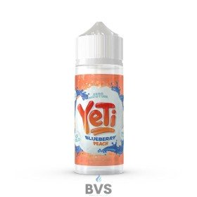 BLUEBERRY PEACH BY YETI E LIQUID 100ML SHORT FILL