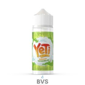 APRICOT WATERMELON BY YETI E LIQUID 100ML SHORT FILL