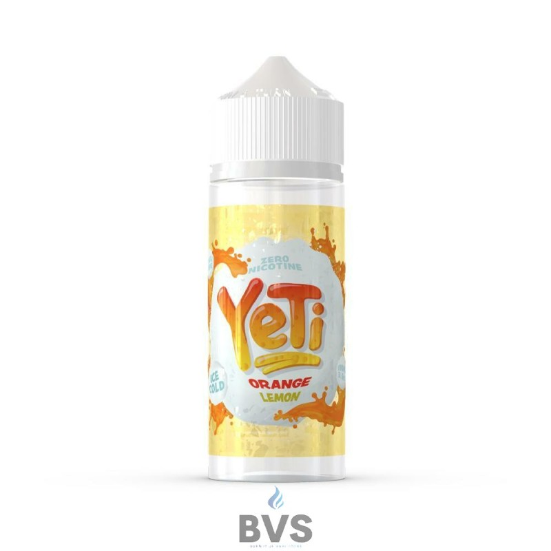 ORANGE LEMON BY YETI E LIQUID 100ML SHORT FILL