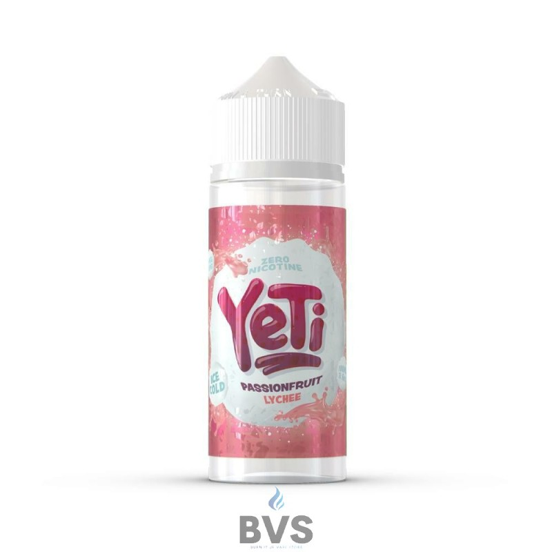 PASSIONFRUIT LYCHEE BY YETI E LIQUID 100ML SHORT FILL