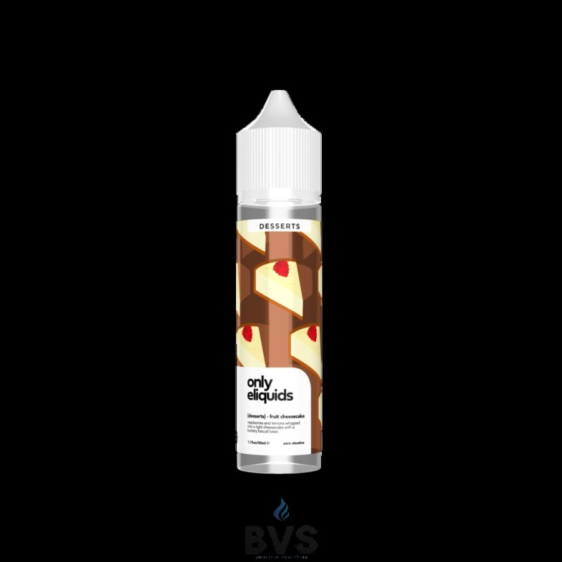 FRUIT CHEESECAKE SHORTFILL E-LIQUID BY ONLY ELIQUIDS DESSERTS 50ML