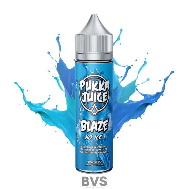BLAZE NO ICE SHORTFILL E-LIQUID BY PUKKA JUICE 50ML