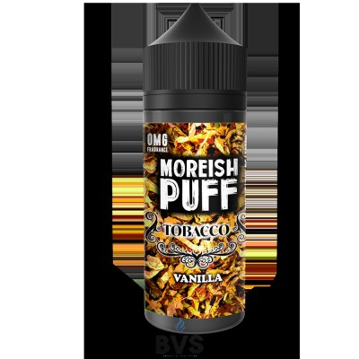 VANILLA TOBACCO BY MOREISH PUFF E LIQUID | 100ML SHORT FILL