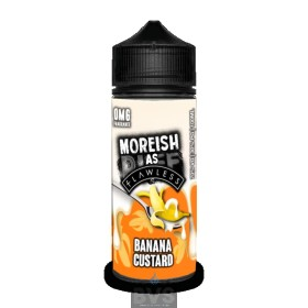 BANANA CUSTARD BY MOREISH AS FLAWLESS E LIQUID 100ML SHORTFILL