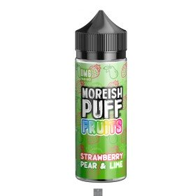 STRAWBERRY PEAR & LIME | FRUITS BY MOREISH PUFF E LIQUID | 100ML SHORT FILL