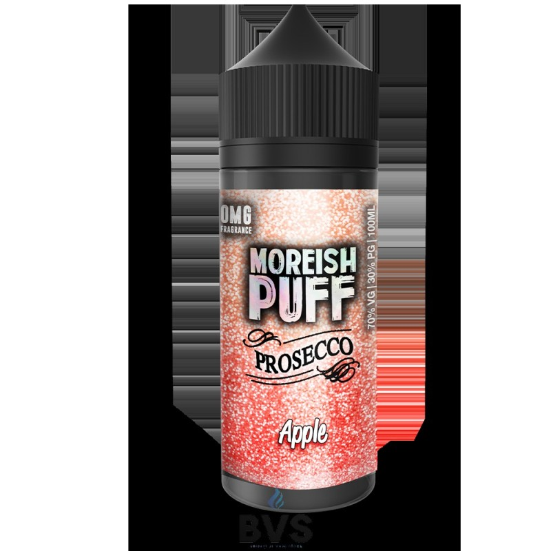 APPLE PROSECCO BY MOREISH PUFF E LIQUID 100ML SHORT FILL