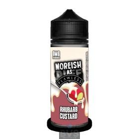 RHUBARB CUSTARD BY MOREISH AS FLAWLESS E LIQUID | 100ML SHORT FILL