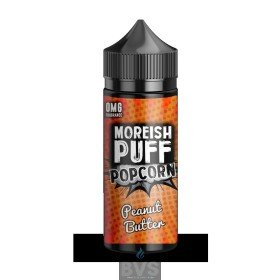 PEANUT BUTTER POPCORN BY MOREISH PUFF E LIQUID | 100ML SHORT FILL