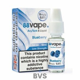 BLUEBERRY E-LIQUID BY 88VAPE ANY TANK