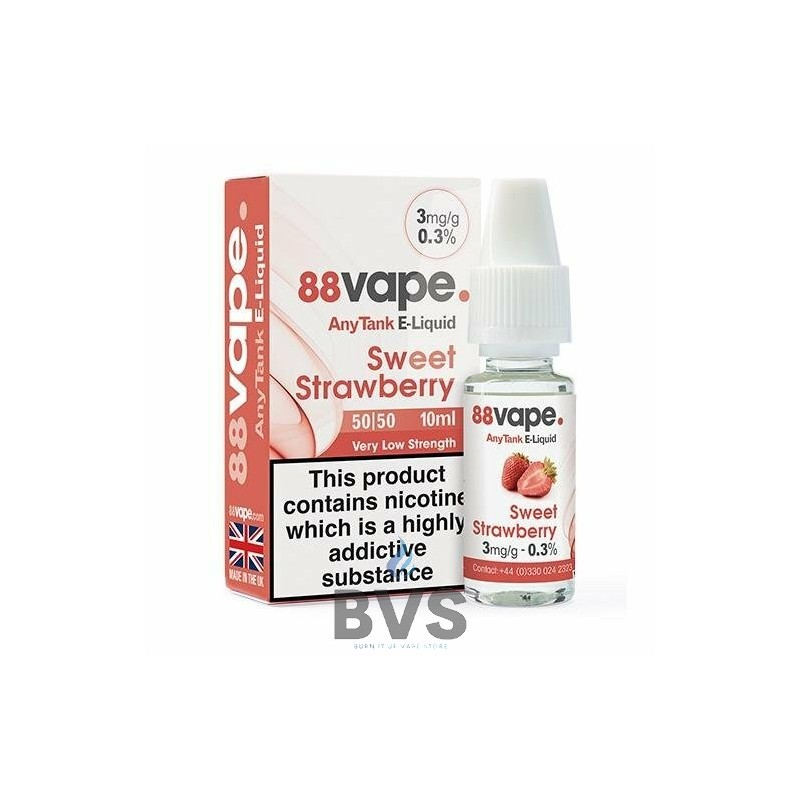 SWEET STRAWBERRY E-LIQUID BY 88VAPE ANY TANK