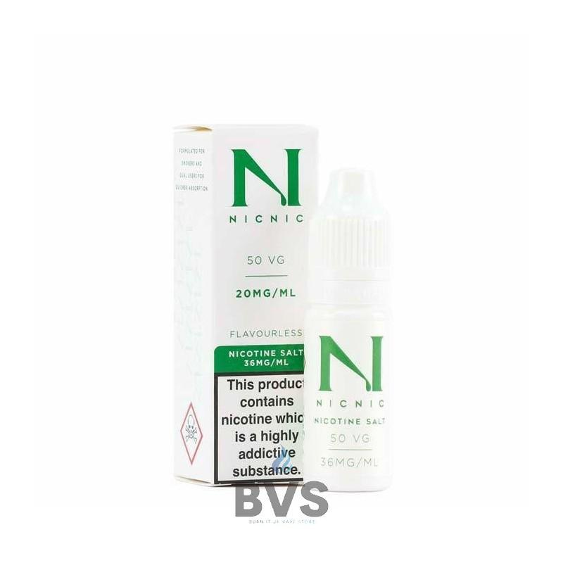 NIC NIC 50VG SALT NICOTINE SHOT BY NIC NIC