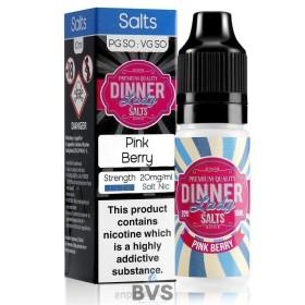 PINK BERRY NIC SALT E-LIQUID BY DINNER LADY