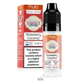 STRAWBERRY COCONUT ELIQUID by DINNER LADY 50/50