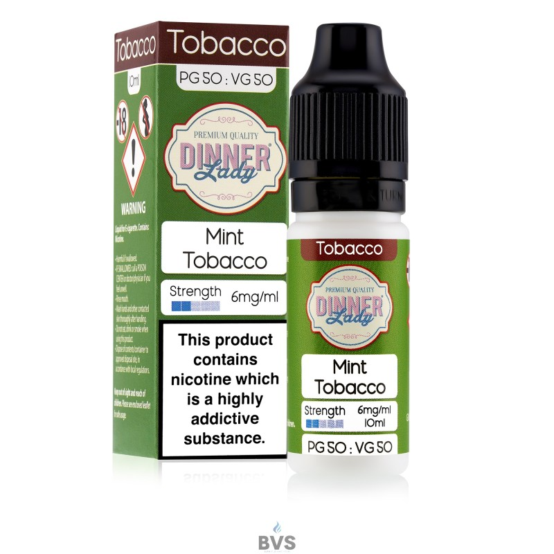 MINT TOBACCO E-LIQUID BY DINNER LADY 50/50