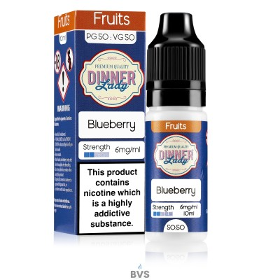 BLUEBERRY E-LIQUID BY DINNER LADY 50/50