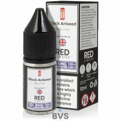 BLACK ANISEED E-LIQUID BY RED LIQUID 50/50