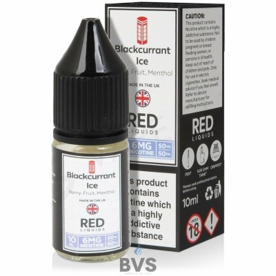 BLACKCURRANT ICE E-LIQUID BY RED LIQUID 50/50