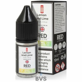 LEMON AND LIME E-LIQUID BY RED LIQUID 50/50