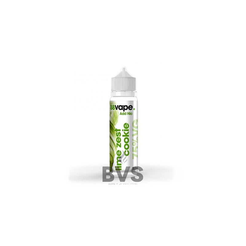 LIME ZEST COOKIE SHORTFILL E-LIQUID BY 88VAPE 50ML