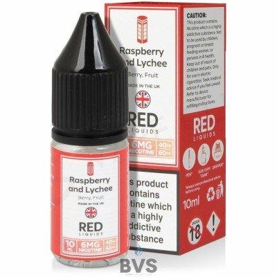 RASPBERRY AND LYCHEE E-LIQUID BY RED LIQUID 40/60
