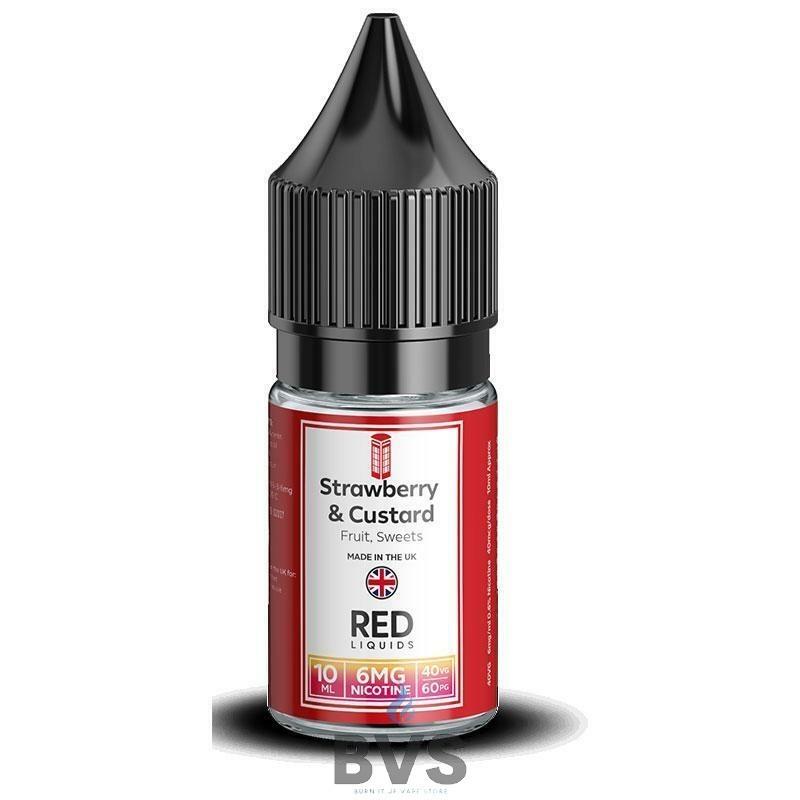 STRAWBERRY & CUSTARD E-LIQUID BY RED LIQUID 40/60