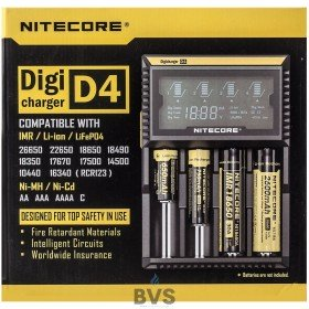 NITECORE D4 VAPE BATTERY CHARGER (FOUR BAY)