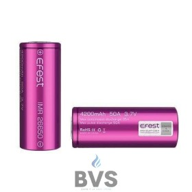 EFEST IMR 26650 RECHARGEABLE VAPE BATTERY (4200MAH 50A)