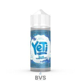 BLUE RASPBERRY BY YETI E LIQUID 100ML SHORT FILL