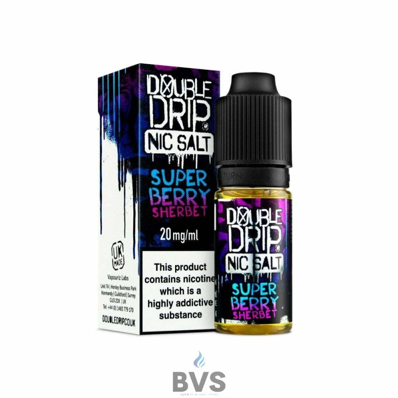SUPER BERRY SHERBET NIC SALT ELIQUID BY DOUBLE DRIP