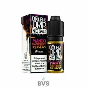 MANGO RASPBERRY ICE CREAM NIC SALT ELIQUID BY DOUBLE DRIP