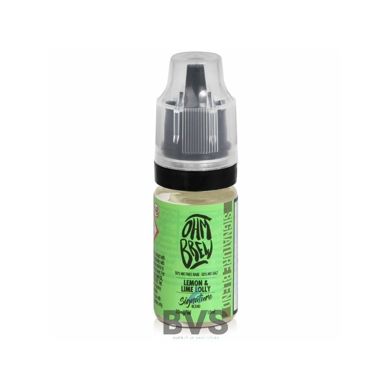 LEMON AND LIME LOLLY ELIQUID BY OHM BREW SIGNATURE SERIES