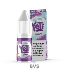 GRAPE NIC SALT BY YETI E LIQUID