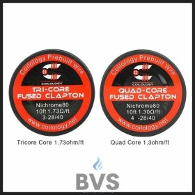 Coilology Quad-Core Fused Clapton Wire 10ft [Ni80 1.3ohm]