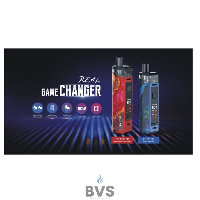SMOK RPM80 PRO POD VAPE KIT - NOW IN STOCK !