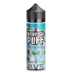 MENTHOL GRAPE & APPLE 100ML SHORT FILL by MOREISH PUFF