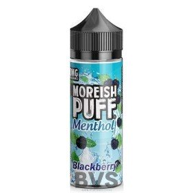 MENTHOL BLACKBERRY 100ML SHORT FILL by MOREISH PUFF