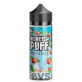 MENTHOL PEACH 100ML SHORT FILL by MOREISH PUFF