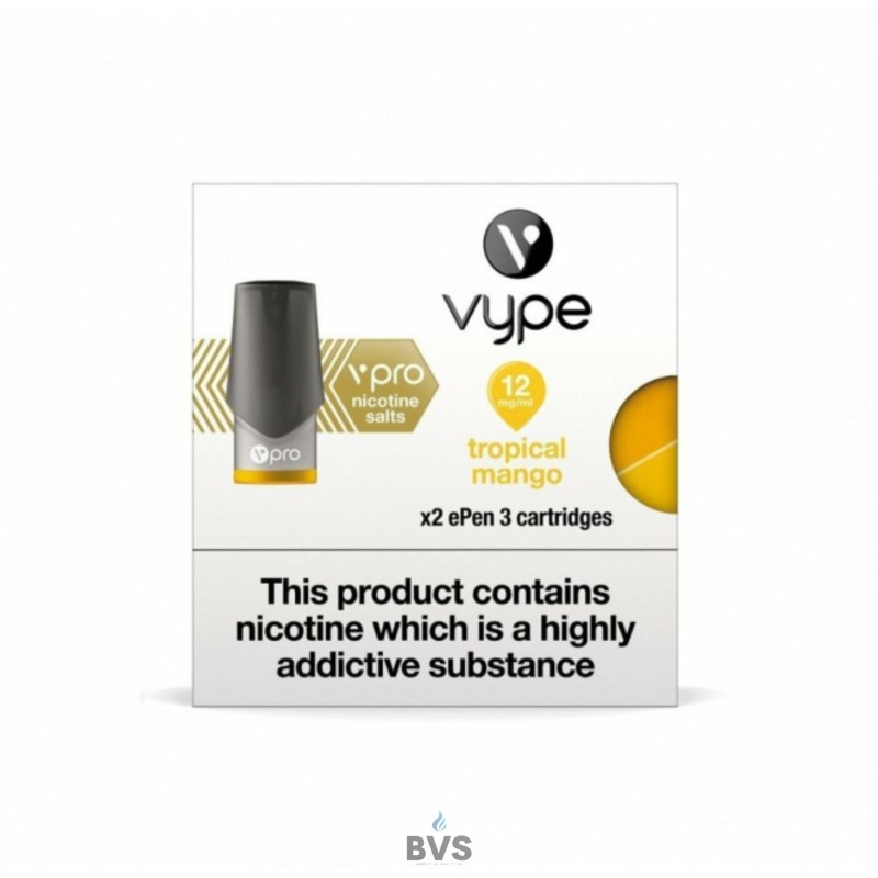 TROPICAL MANGO NIC SALT EPEN 3 PREFILLED POD BY VYPE