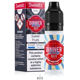 SWEET FRUITS NIC SALT ELIQUID BY DINNER LADY