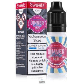 WATERMELON SLICES NIC SALT ELIQUID BY DINNER LADY