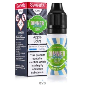 APPLE SOURS NIC SALT ELIQUID BY DINNER LADY