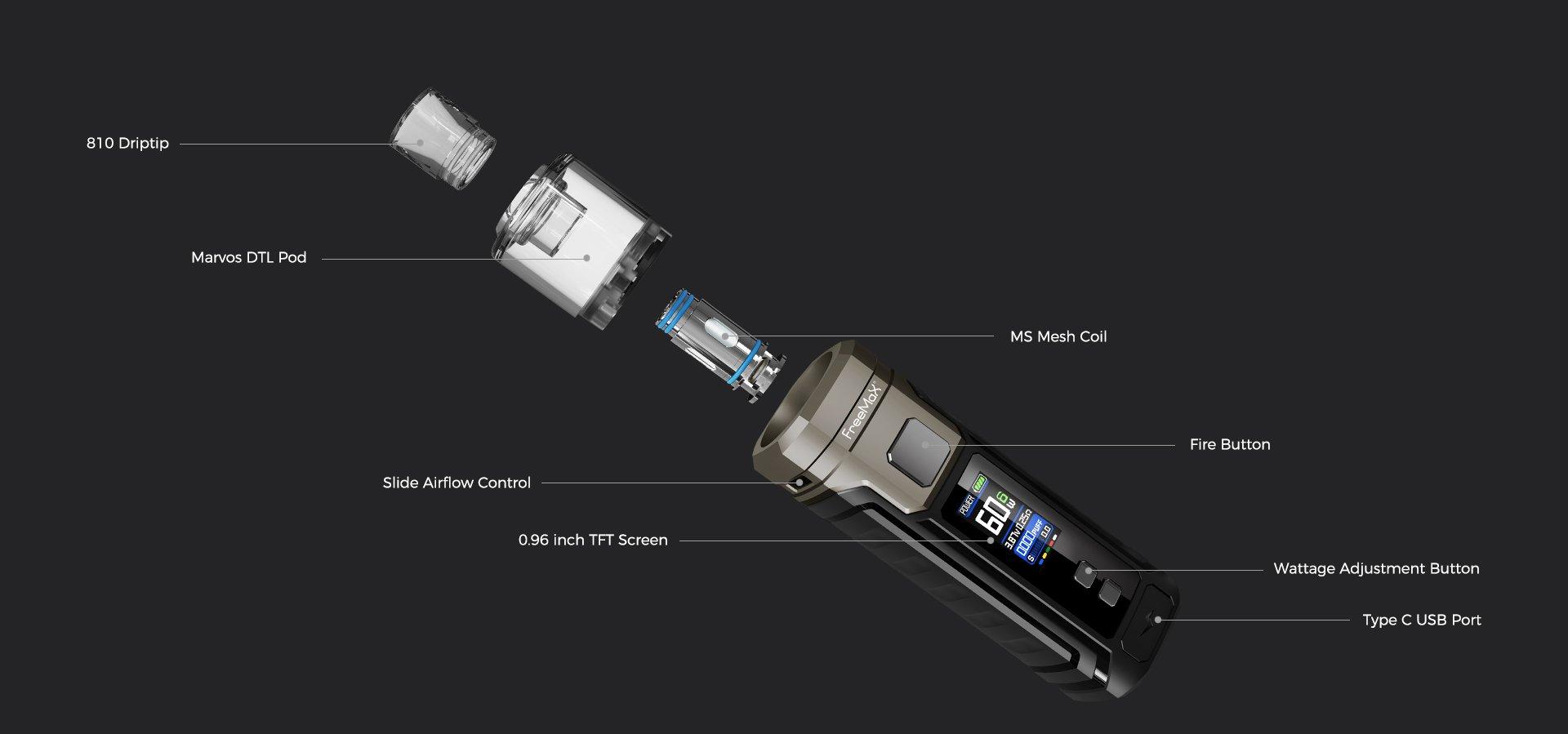 Marvos Vape Kit by Freemax