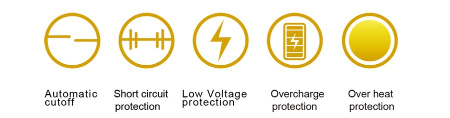 The Tigon features a range of safety protections including Low Voltage and Over Heat, for a longer lifespan.