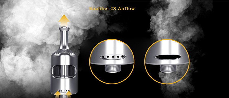 The Nautilus 2S features an adjustable bottom airflow.