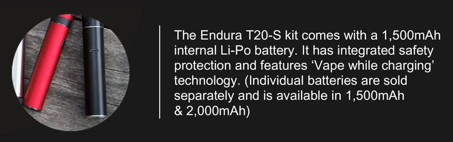 The Endura T20-S kit features a range of safety features to protect the device.