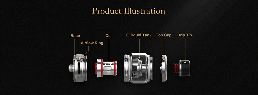 The 2ml Uwell Crown 4 is a sub ohm vape tank which features a triple adjustable bottom airflow.
