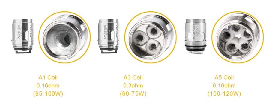 The Athos sub ohm tank employs three Athos coil types to suit your vaping style.