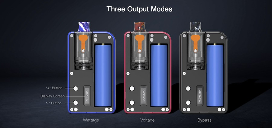 Alter the Mulus by Aspire' performance with multiple output modes