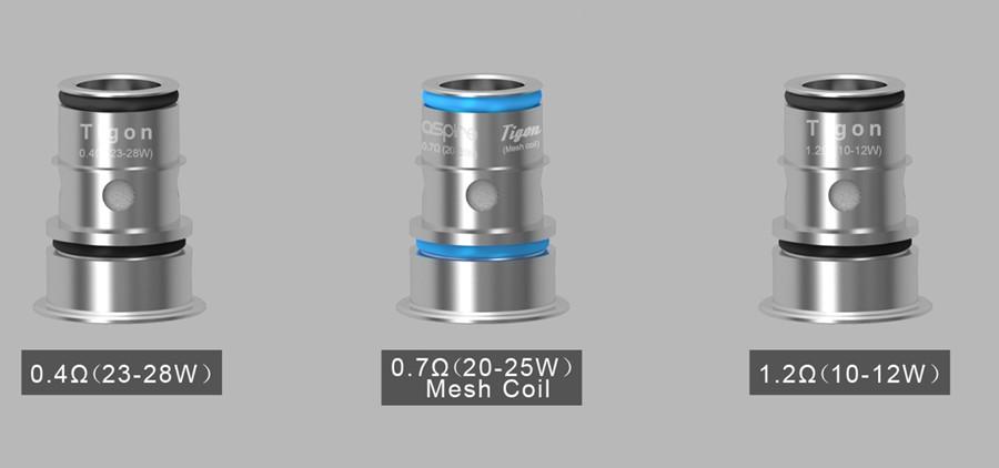 The Aspire Tigon vape coils can be used with a range of e-liquids