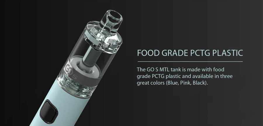 The 1500mAh Go S Pen kit features a PCTG plastic construction for a durable and eco-friendly device.